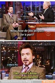 Robert Downey Jr. and Jennifer Lawrence need to do an interview together. <--Agreed.
