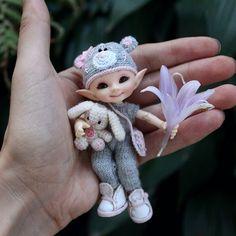 The World's Best Photos of realpuki Elf Doll, Bjd Dolls, Mark Roberts Fairies, Mermaid Sculpture, Fairy Statues, Worry Dolls, Clay Fairies, Fairy Pictures, Fairy Crafts