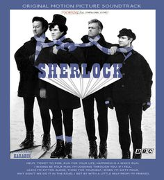 Someone made this for us Sherlockians and Beatlemaniacs! #Sherlock  GeorgeLestrade - PaulJohn - RingoMycroft - John  They look so cute in skinny jeans ;) and ben looks amazing in a top hat!