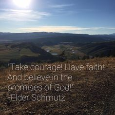 """""""As we exercise our faith in the Savior http://facebook.com/173301249409767, He will lift us up and carry us through all of our trials and, ultimately, save us in the celestial kingdom. ... Take courage! Have faith! And believe in the promises of God!"""" From #ElderSchmutz' inspiring #LDSconf http://facebook.com/223271487682878 message http://lds.org/general-conference/2016/10/god-shall-wipe-away-all-tears #ShareGoodness"""