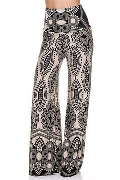 NioBe Clothing Plus Size High Waist Foldover Boho Palazzo Pants Comfy Pants, Fancy Pants, Next Fashion, Boho Fashion, Fashion Details, Bohemian Pants, Bohemian Clothing, Rockabilly, Wide Leg Palazzo Pants