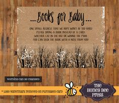 Bring a Book  Baby It's Cold Outside Shower by TheHoneyBeePress