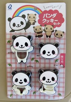 Use this panda cookie cutter set to make the cutest cookies. It comes with 4 different facial expressions, and 4 different poses. Just layer the different colors for a true panda effect. The panda face is in. Bear Cookies, Cute Cookies, Cookies Et Biscuits, Cake Pop Tutorial, Cookie Cutter Set, Bento Box Lunch, Cute Japanese, Cute Panda, Different Patterns