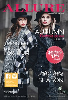 Cover Page, ALLURE Postcard Series 3. Out now in you mailbox or pick one up in Centre today.