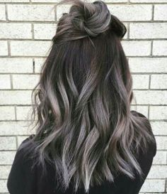 Grey ombre... I would do this in a second if I had dark brown hair                                                                                                                                                                                 More