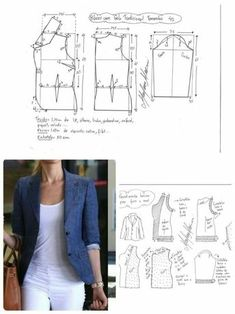 Amazing Sewing Patterns Clone Your Clothes Ideas. Enchanting Sewing Patterns Clone Your Clothes Ideas. Coat Patterns, Dress Sewing Patterns, Sewing Patterns Free, Clothing Patterns, Blazer Pattern, Jacket Pattern, Make Your Own Clothes, Diy Clothes, Clothes Women