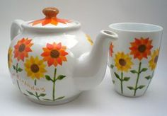 painted teapot - Google Search