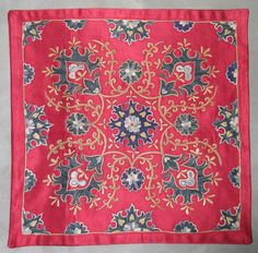 Pure silk embroidery on silk&cotton foundation,natural colors,totally hand made 46cmx46cm