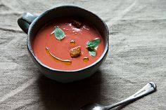 Eleven Madison Park's Strawberry Gazpacho ( vegan friendly )