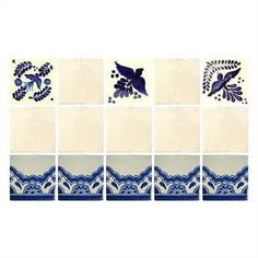 Mexican Tile - - ON SALE - Blue Lace Border Mexican Tile