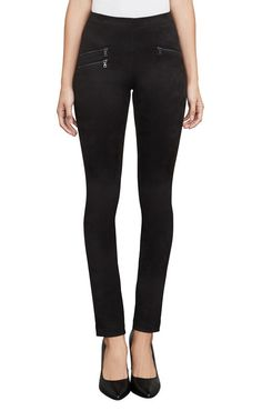 Shop the latest women's pants at BCBG. Browse a variety women's bottoms, including leggings, jeans, shorts and women's fashion pants. Trousers Women, Pants For Women, Suede Leggings, High Rise Pants, Fashion Pants, Fall Outfits, Black Jeans, Womens Fashion, Clothes