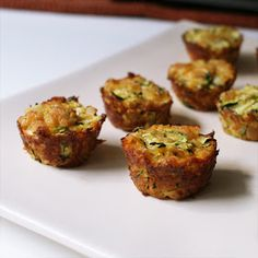 The Two Bite Club: Zucchini Tots. The result is like a mini quiche. Recipe is for mini muffin pan, so doubling will give you one regular pan size. They are pretty small so you could really quadruple recipe.