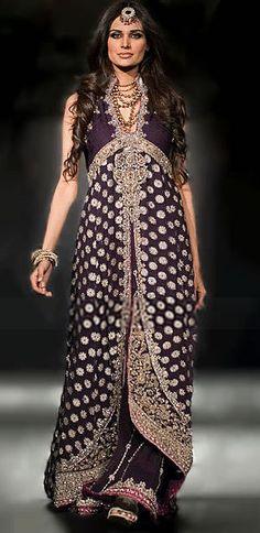 BW7482 Dark Eggplant Crinkle Chiffon Sharara Pakistani Bridal Dresses Pictures, Bollywood Bridal Wear, Indian Lehengas, Asian Bridal Dress Bridal Wear