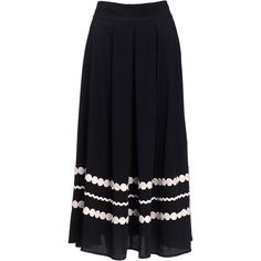 Monsoon Claudia Rik Rak Skirt (1,735 EGP) ❤ liked on Polyvore featuring skirts, rayon skirt, blue skirt and monsoon skirts