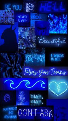Blue aesthetic in 2021 | Wallpaper iphone neon, Iphone wallpaper themes, Iphone wallpaper girly