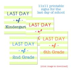 { FotosByFleming }: { freebie } Last Day of School Printables