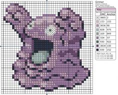 Birdie Stitching Pokemon Pattern - 88 Grimer