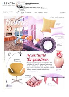 KAS Sophia Dots natural cushion $49.95 featured in the Canberra Weekly Magazine (April 2013 issue)