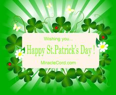 Wishing You… Happy St Patrick's Day! MiracleCord.com