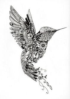 Znalezione obrazy dla zapytania hummingbird flower tattoo