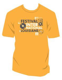 Festival International de Louisiane T-shirt 2011 - Right Angle rightangleadv.com