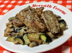 Bakonyi szelet   Horváth Ferenc receptje - Cookpad receptek Pork, Low Carb, Meat, Chicken, Cooking, Kale Stir Fry, Kitchen, Pork Chops, Brewing