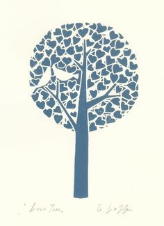 simple and gorgeous lino print - love it