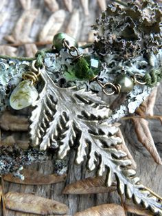 Moss Dew necklace by woodlandjewelries on Etsy