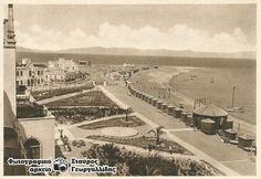Η ΡΟΔΟΣ ΤΟΥ ΧΤΕΣ  Ρόδος. Άποψη της παραλίας από το Ξενοδοχείο των Ρόδον (Grande Albergo delle Rose) 1930 .. Once Upon A Time, Athens, Paris Skyline, Greece, Dolores Park, The Past, 1930, Island, Places
