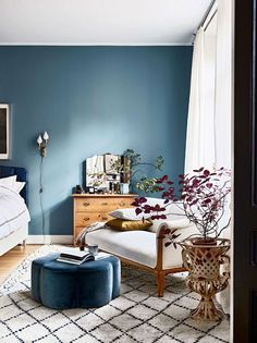 Nice Blue Walls Living Room with Best 25 Blue Bedroom Walls Ideas On Home Decor Blue Bedrooms 4833 is among pictures of Living Room concepts for your house Blue Rooms, Blue Walls, Blue Bedroom Walls, White Bedrooms, Farrow And Ball Bedroom, Master Bedrooms, Bedroom Colors, Home Decor Bedroom, Bedroom Ideas