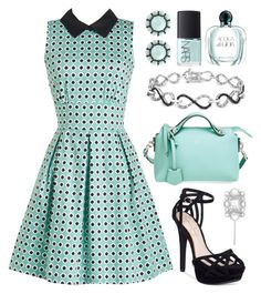 """""""Turquoise"""" by boxthoughts ❤ liked on Polyvore featuring Closet London, Fendi, Jessica Simpson, Henri Bendel, Color My Life, Ice, NARS Cosmetics and Giorgio Armani"""