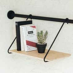 Tension Rod A / Tension Rod B + Shelf B - DRAW A LINE: request quotes, estimates, prices or catalogues online through MOM, your digital platform dedicated to decor, design and lifestyle professionals. Piano Room, White Shelves, Hanging Shelves, Diy Home Improvement, Desk Lamp, Home Goods, Diy And Crafts, Kids Room, Furniture Design