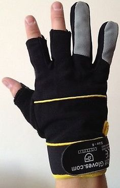 Unisex black fingerless #gloves - gardening work shooting #photography #fishing d,  View more on the LINK: http://www.zeppy.io/product/gb/2/321904581351/
