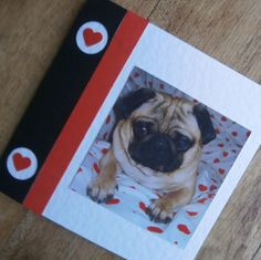 Pug love card for any occasion by onelittlepug on Etsy