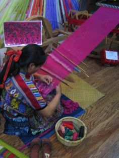 Hand loomed textiles in Guatemala -  have one in my home that was especially made for me :)