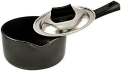 Futura Hard Anodised Sauce Pan 1-1/2-Litre with Steel Lid and Pouring Spout by Futura. $31.99. 1.5 litre capacity. 3.25 mm thickness. 16 cm diameter. Comes with lid. Pouring spout. This is a hard anodised saucepan which is especially suitable for making tea or other beverages and boiling milk.