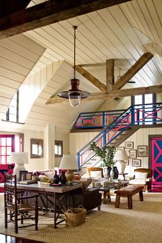 Make Large Rooms Cozy with Multiple Seating Areas - 108 Living Room Decorating Ideas - Southernliving. How do you make a gigantic room look…