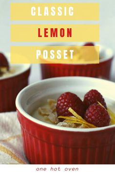 This Lemon Ginger Posset is a classic English dessert that is the most luscious creamy custard ever. Possets are unbelievably easy to make and take just a few ingredients that create a velvety texture. This is a perfect special occasion dessert. Easy No Bake Desserts, Desserts For A Crowd, Easy Desserts, Delicious Desserts, Dessert Recipes, Yummy Food, Individual Desserts, Party Recipes, Baking Recipes
