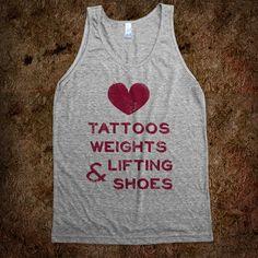 I sooo want this!! Hopefully I'll be lifting weights soon ;) Love Tattoos Weights & Lifting Shoes -