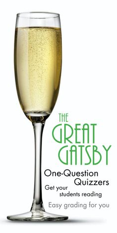 Hold your teens accountable as they read F. Scott Fitzgerald's masterpiece, The Great Gatsby. Click HERE for one-question quizzers.