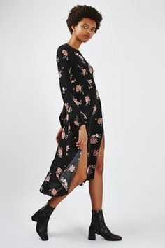 **Long Sleeve Floral Midi Dress by Nobody's Child