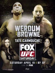 UFC on FOX 11: Werdum vs. Browne Ergebnisse - Results