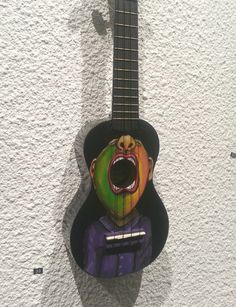 Hand painted uke from down under Ukulele Instrument, Music Instruments, Painted Guitars, Play That Funky Music, Guitar Painting, Pyrography, Decoupage, Universe, Fancy