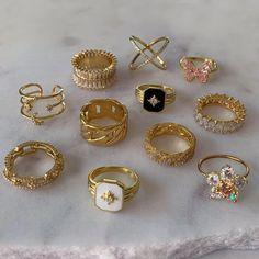Nail Jewelry, Trendy Jewelry, Cute Jewelry, Jewelry Rings, Jewelry Accessories, Fashion Jewelry, Luxury Jewelry, Gold Jewellery, Vintage Jewelry
