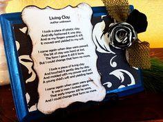 Lovely handmade gift using an inspirational poem!