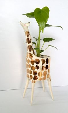 Gold Giraffe Planter - Gail CC Ceramics