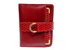 Linda Carteira Feminina na cor Vermelha com fecho. Coloque cartões, moedas, dinheiro e cheque. Imperdível!