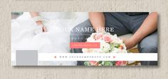 INSTANT DOWNLOAD - Facebook Timeline Template for Wedding Photographers - Photography Blog Banner - Digital Photoshop Templates - m0104