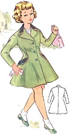 1950's coat pattern - my mom was a seamstress and I remember her having this pattern... WOW