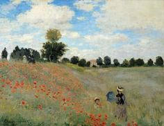 [Monet Art Print, Canvas - Wild Poppies, near Argenteuil]